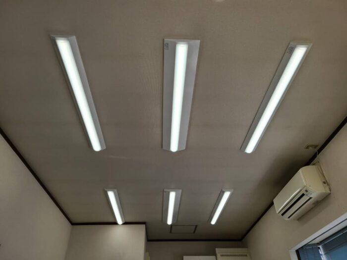 LED照明交換工事後